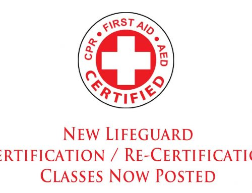 Updated ARC Lifeguard Certification / Re-Certification Class Schedule